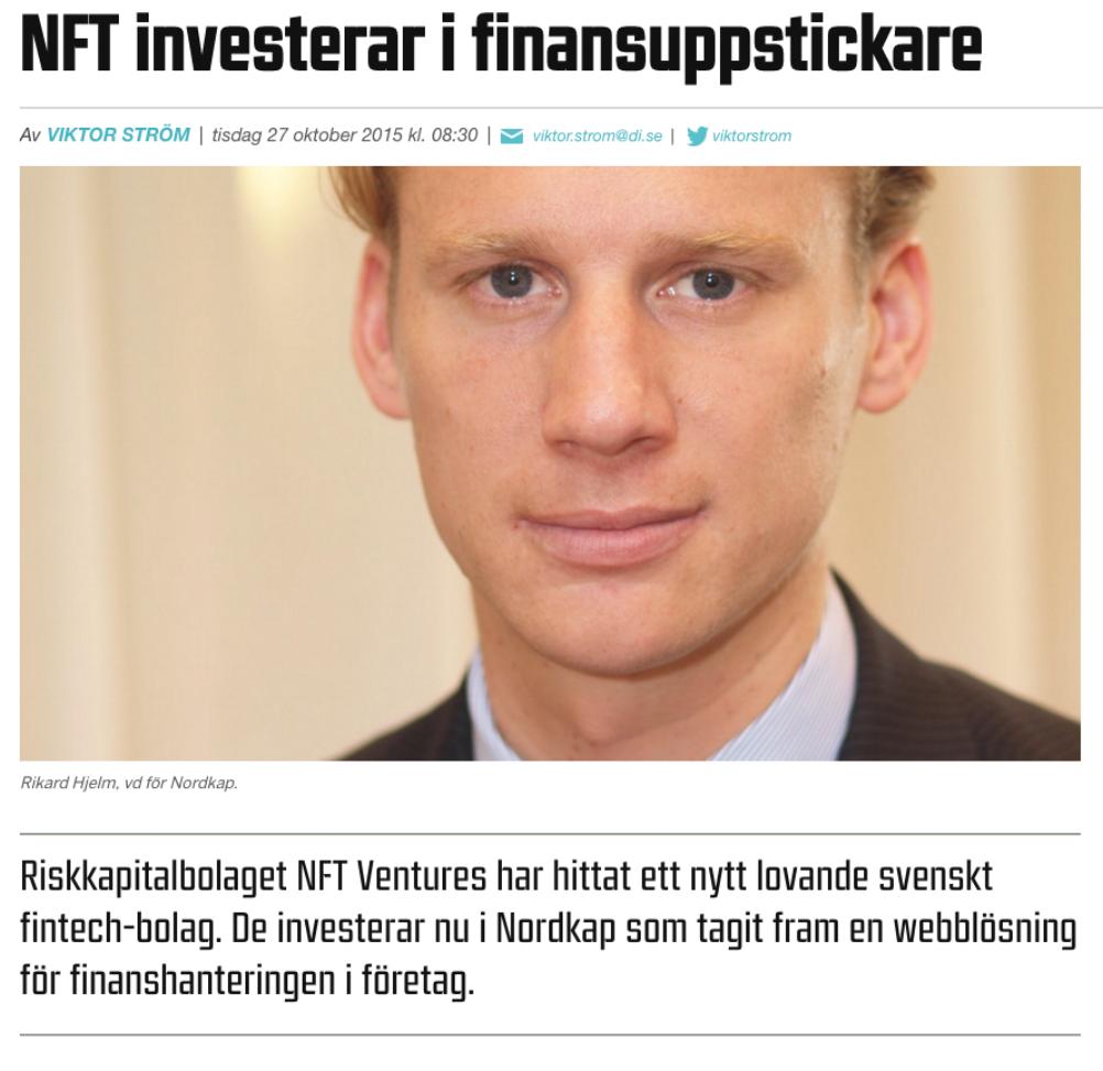 NFT Ventures investerar i Nordkap