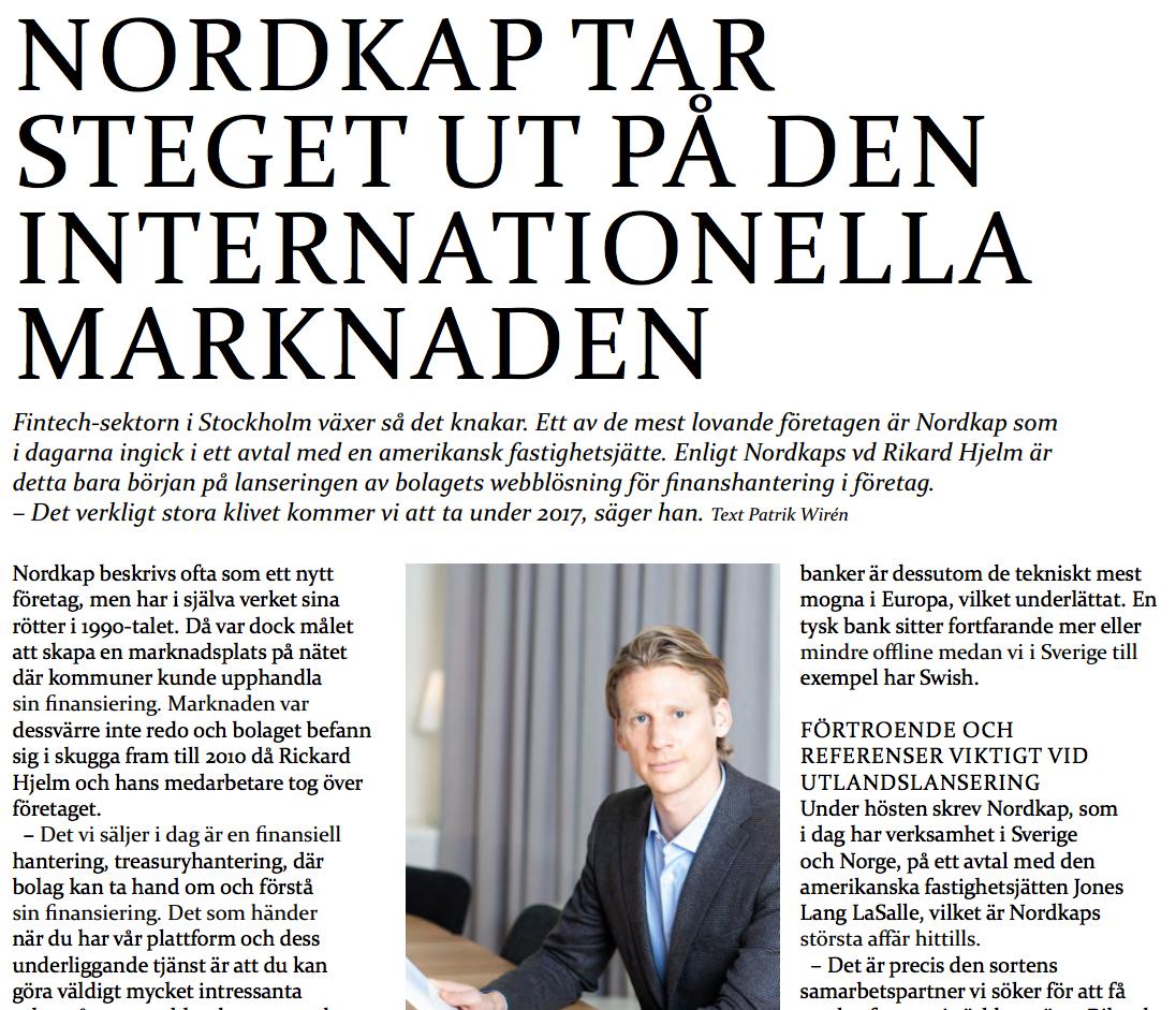 Nordkap tar steget ut på den internationella marknaden