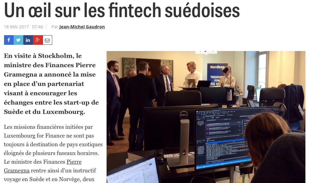 Luxemburgs finansminister besöker Nordkap
