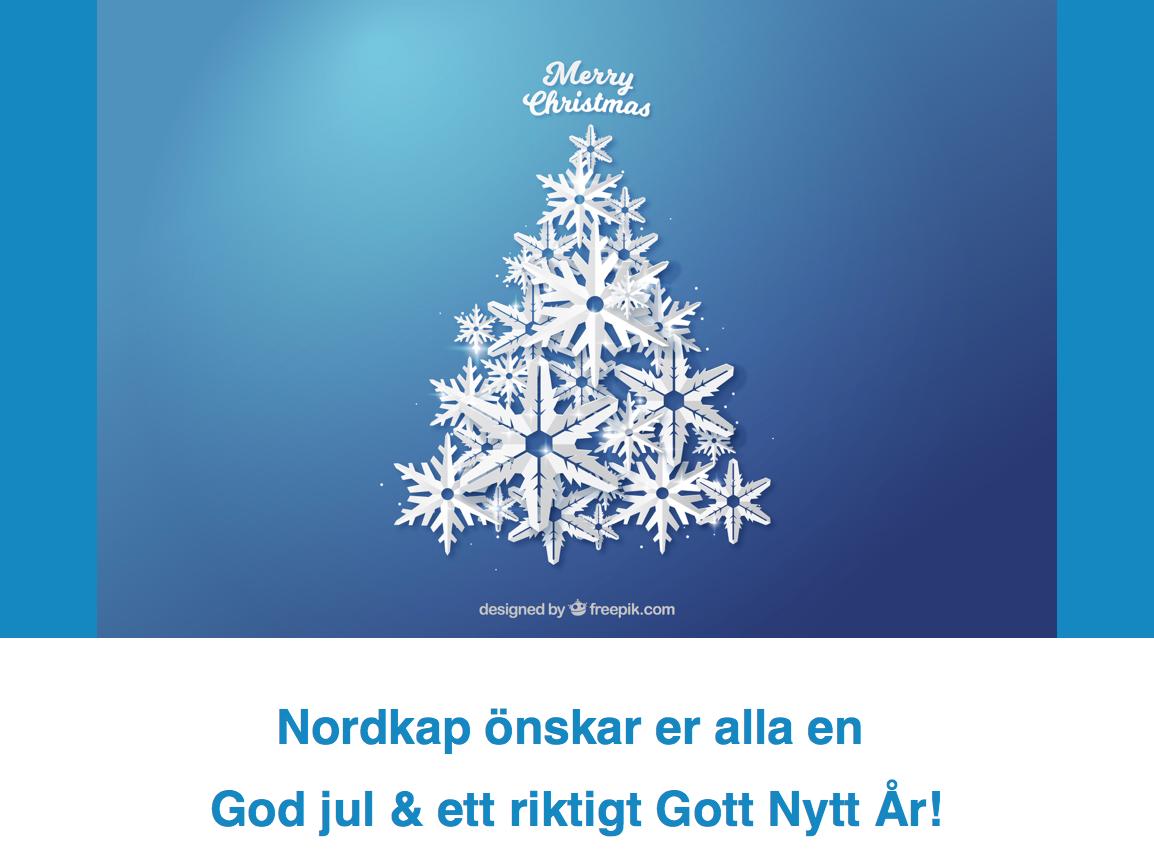 Nordkap önskar God Jul