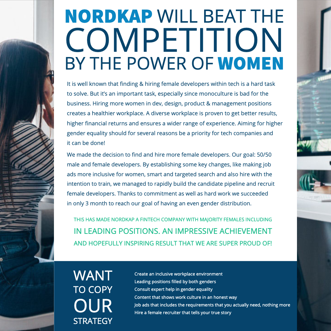 female developers at Nordkap