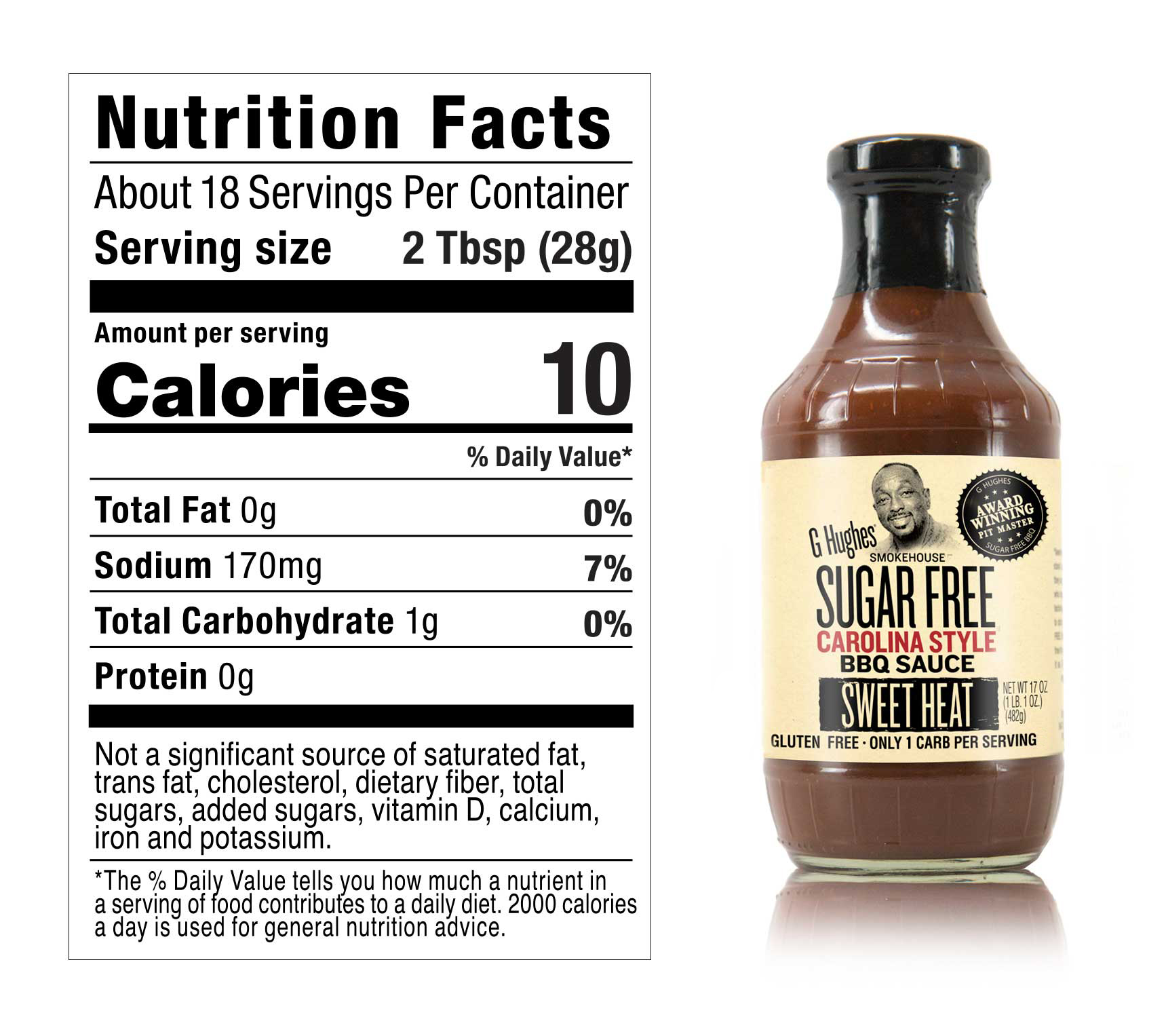 INGREDIENTS:  Vine-Ripened Crushed Tomatoes (Water, Crushed Tomatoes), White Vinegar, Cider Vinegar, Modified Cornstarch, Salt, Crushed Red Pepper, Spices, Caramel Color, Xanthan Gum, Sucralose.