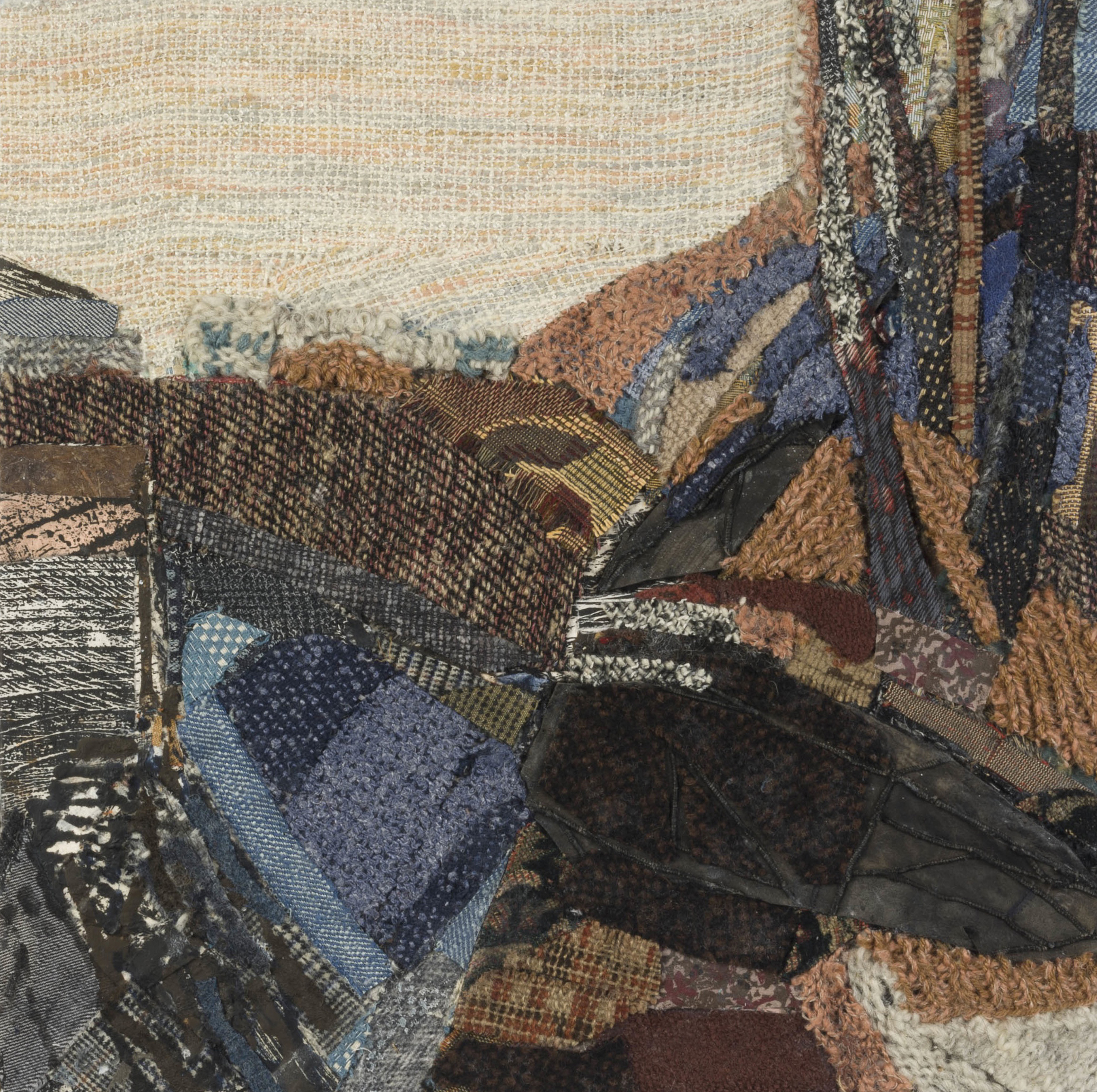 Vista and Strata , 2011, mixed media on panel, 16 1/4 x 16 1/4 inches