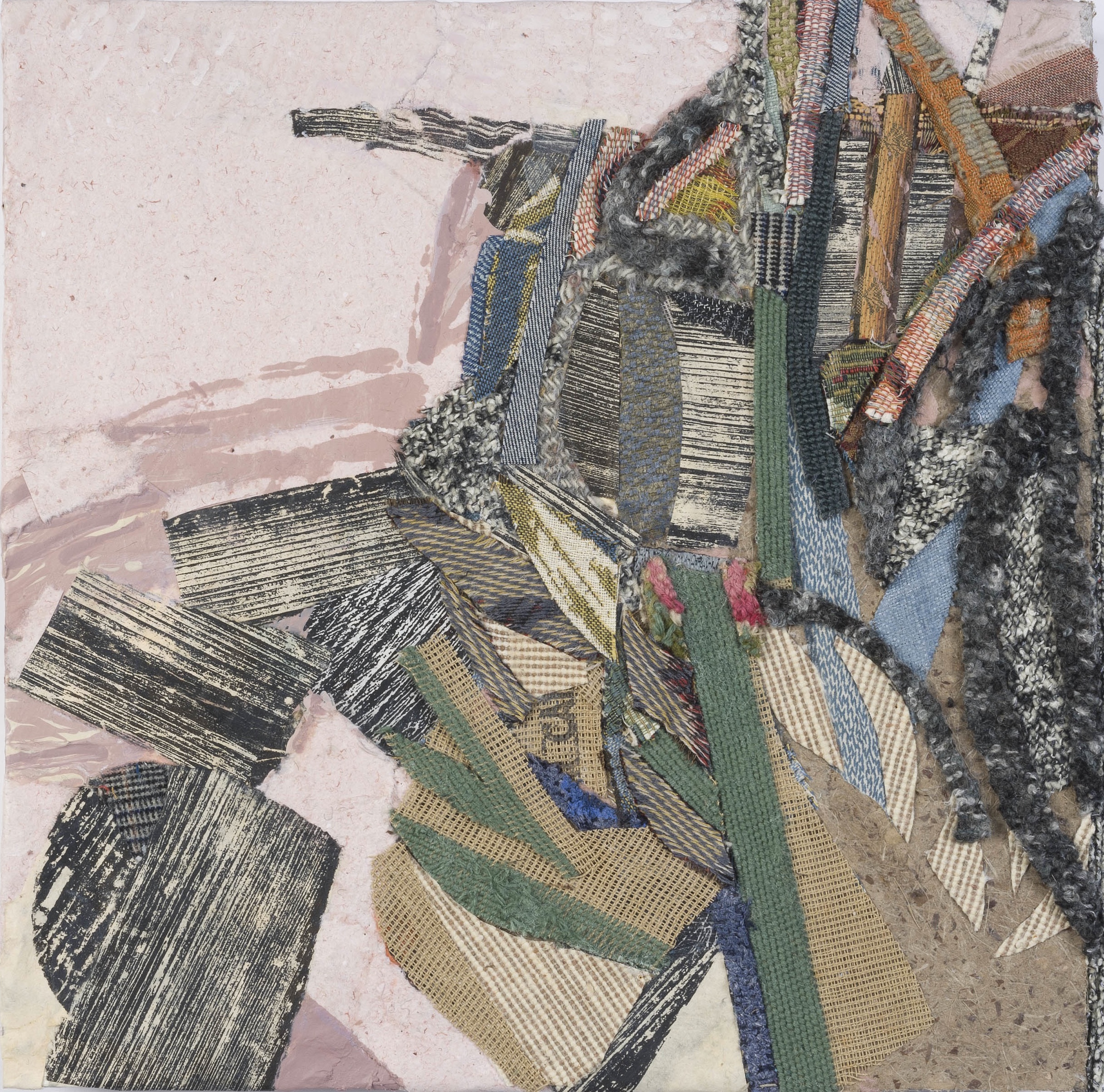Vista and Strata III , 2012, mixed media on panel, 16 1/8 x 16 1/2 inches