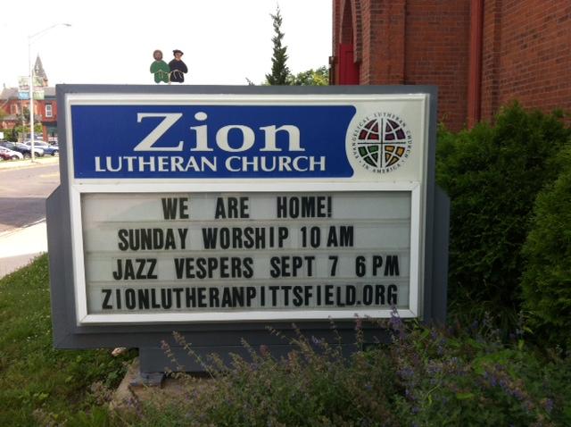 Zion Lutheran Church, Pittsfield, MA, July 2017