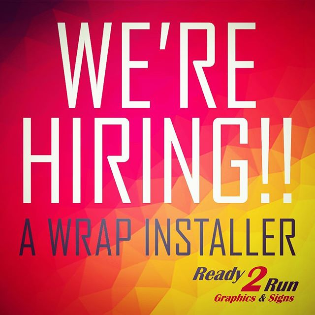 We are looking for the BEST wrap and graphics installer in central MA! Do you or someone you know fit this description? Share this post and help us get the word out! • • • #werehiringnow #centralmass #massachusetts #worcester #hiring #tagsomeone #wrapinstaller #3mwrap