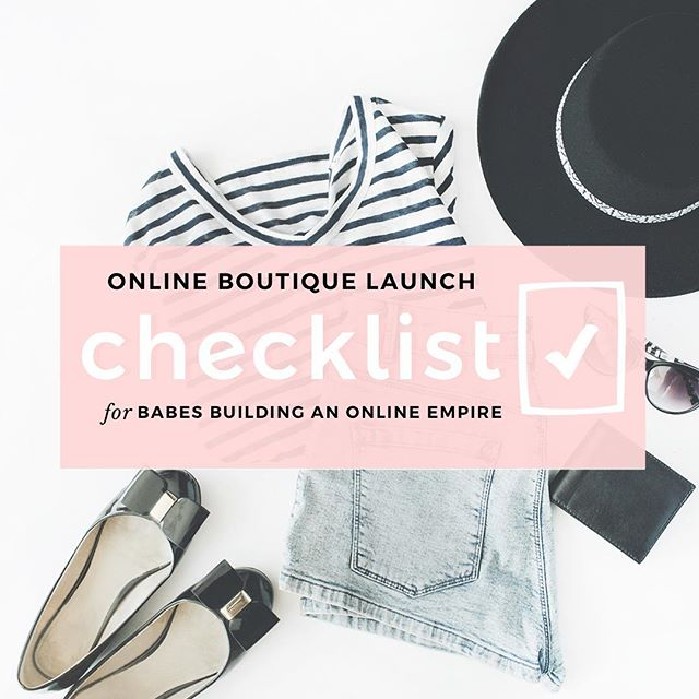 Always dreamed of starting your own online boutique, but don't have a clue about where to start, or totally overwhelmed by all of the information out there?! 🤷🏻♀️You need a STEP BY STEP plan that works, and you can put into action!💯💕 We got ya bae— download the checklist! ✅Link in bio!📲🖤