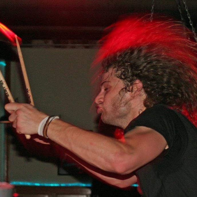 Performing with Tigercity circa 2008