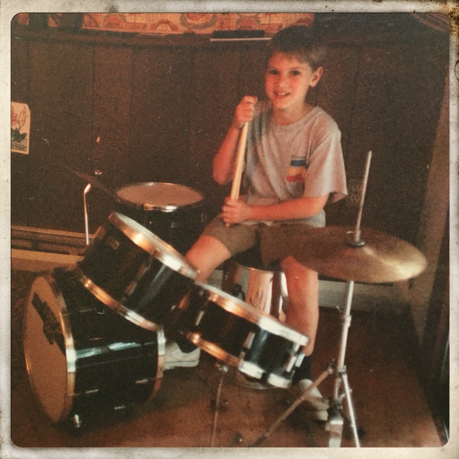 My first drum set - 6 years old!