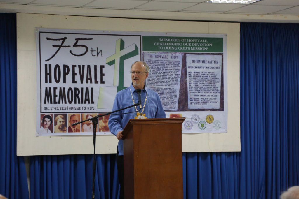 "Bruce spoke on the ""Gleanings of Hope"" panel"