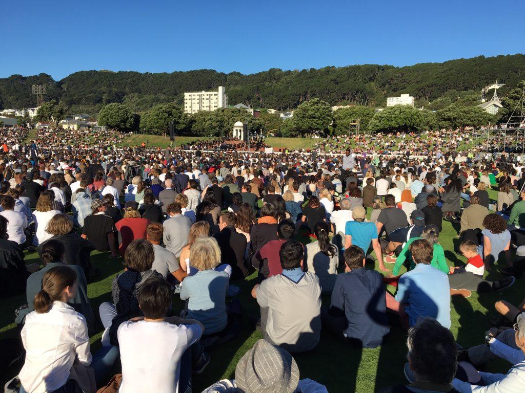 A solidarity vigil in Christchurch.