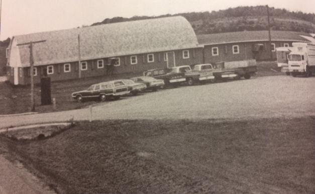Seubert Calf Ranch facilities in Dorchester, WI   1974