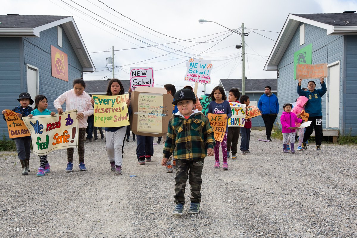 Youth in Kashechewan raise their voices, photo posted by Charlie Angus on Twitter, September 8, 2018