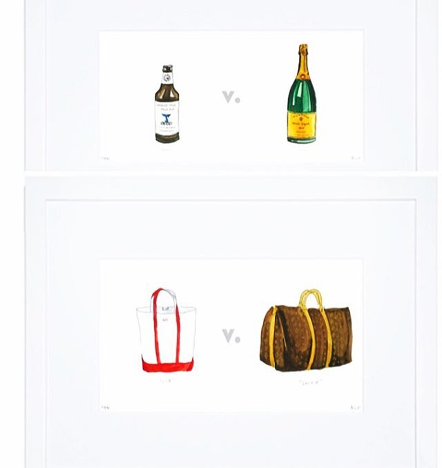 Which are you?? 😎⛵️⚓️ ACK v. HAMPS.  Can't get enough of these framed little prints. Oh so clever and soooo very true. Collect the series from @ackvhamps  #nantucket #hamptons