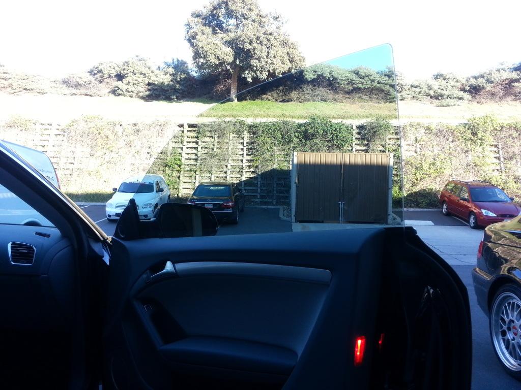 car with window tint