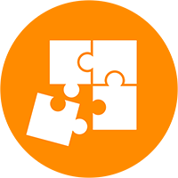 Puzzle icon representing talent, locations, and props.