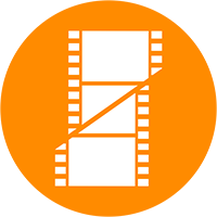 Film icon to represent postproduction and editing.