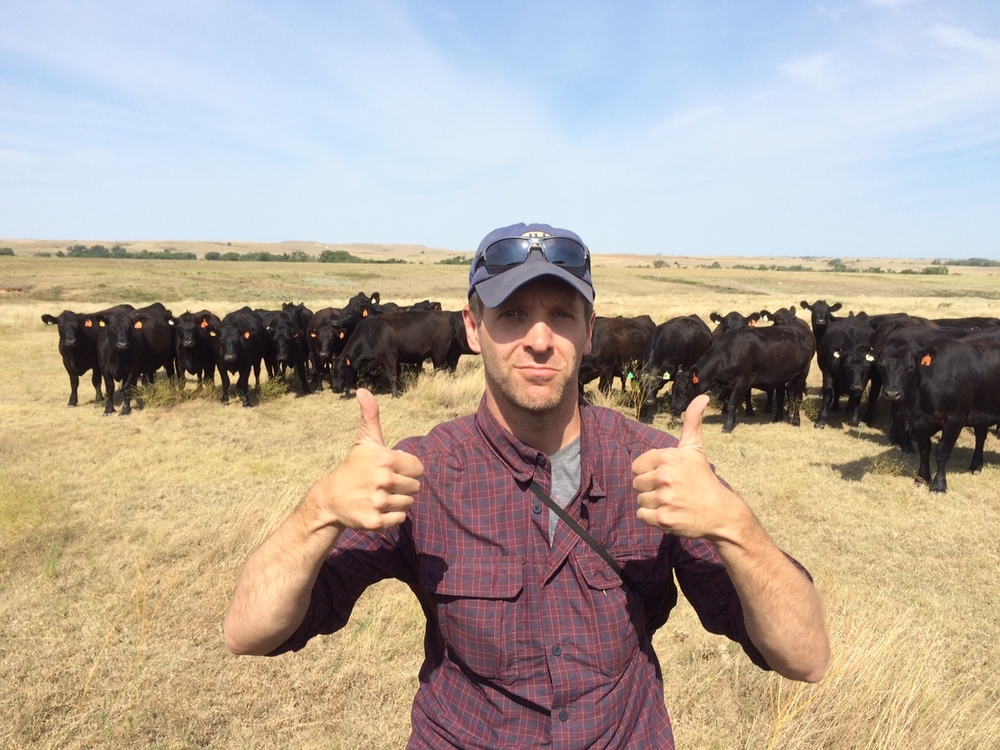 Our very own Andy Hoffman on a shoot out west for National Beef.