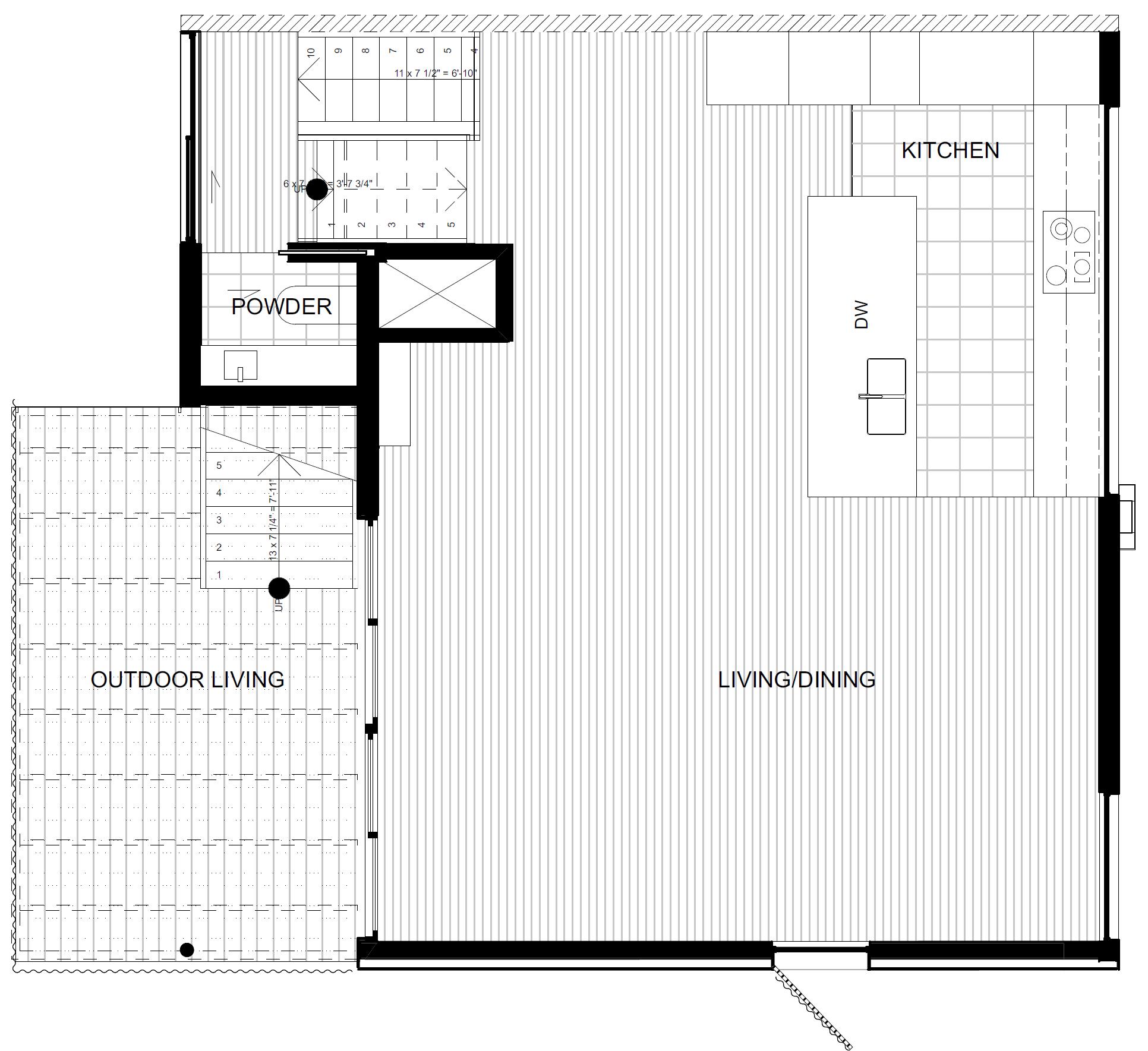 Third Floor - Kitchen and Living