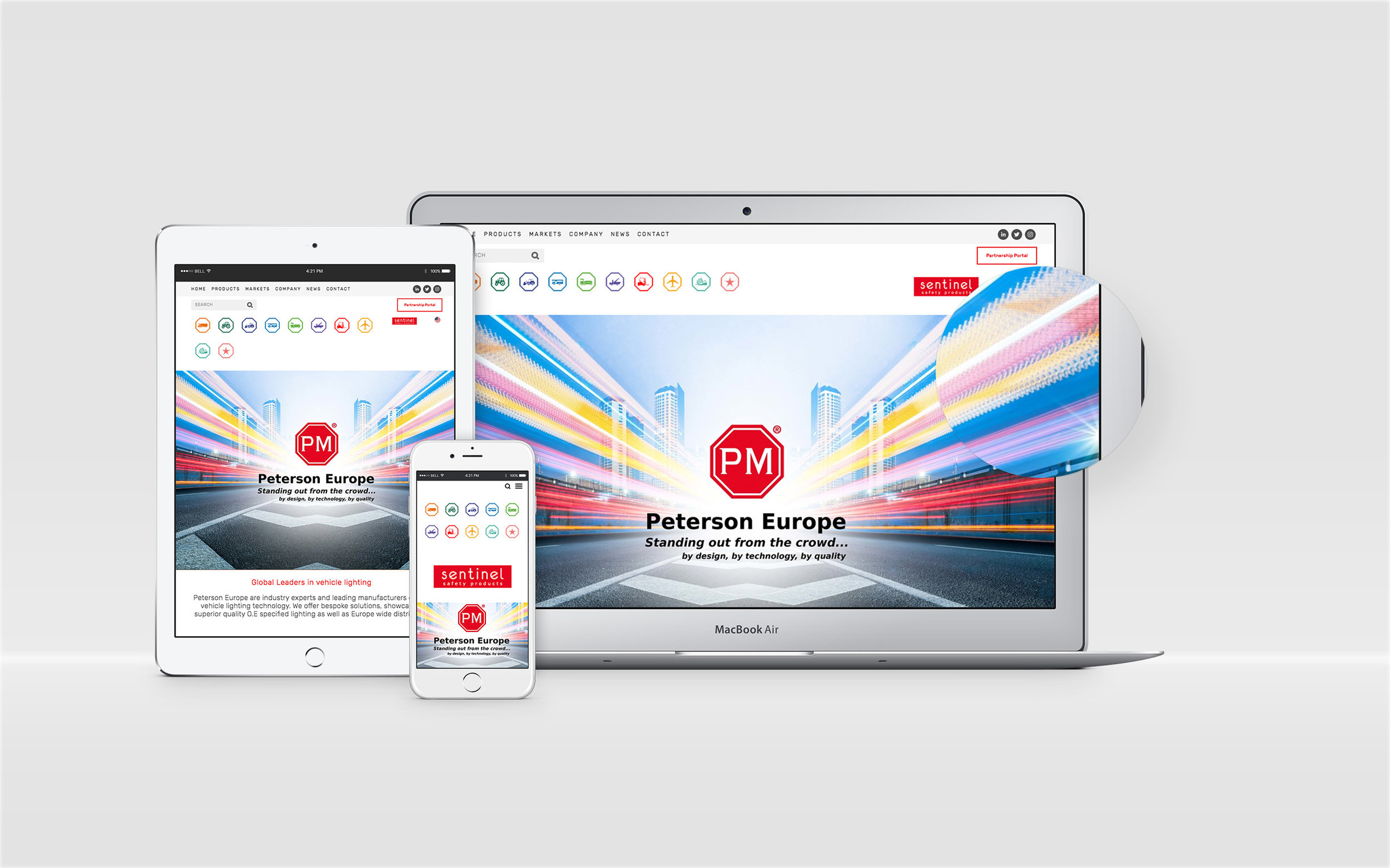 Fully mobile responsive website with over 60 page elements and product displays.