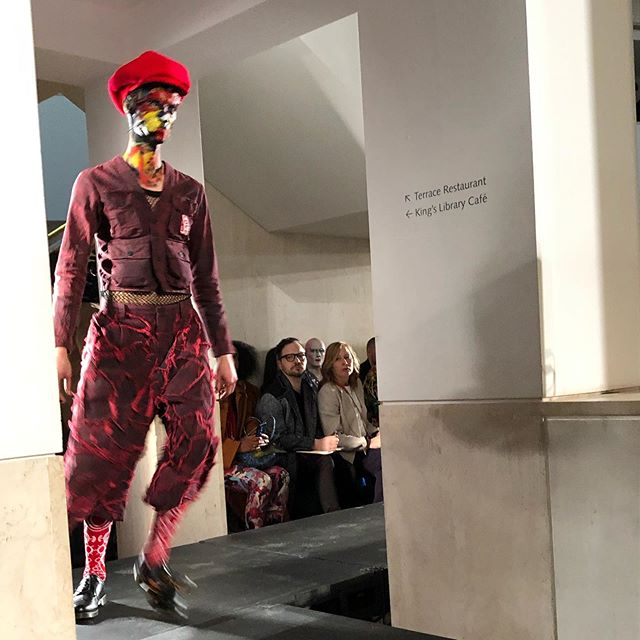 I always love the @_charlesjeffrey show. A highlight of the #lfwm calendar. This time a little more subdued and serious with less whimsy, which may have had something to do with the location @britishlibrary