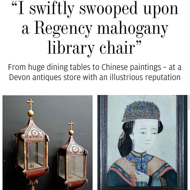 Read how I discovered @markdavisantiques in #kingsbridge #southhams @ft_howtospendit online. How it had to do with my obsession with #chineseancestorportraits and my love of the colour green