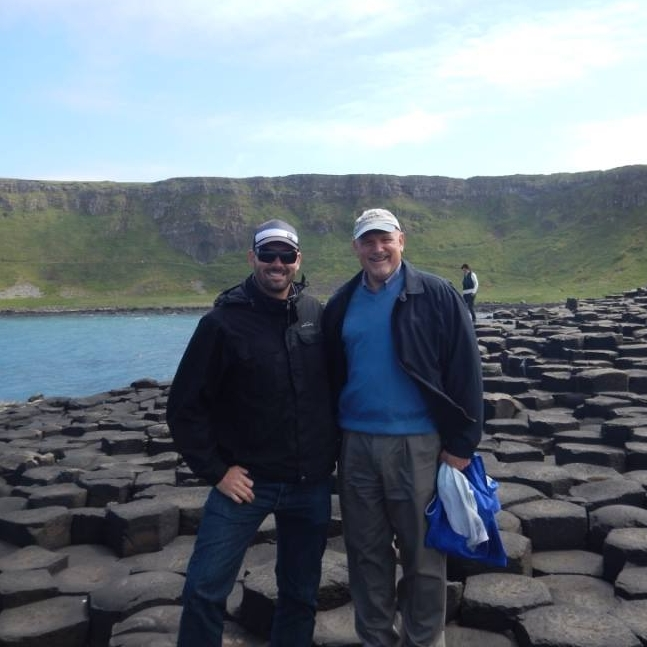 Michael and Brent in Northern Ireland