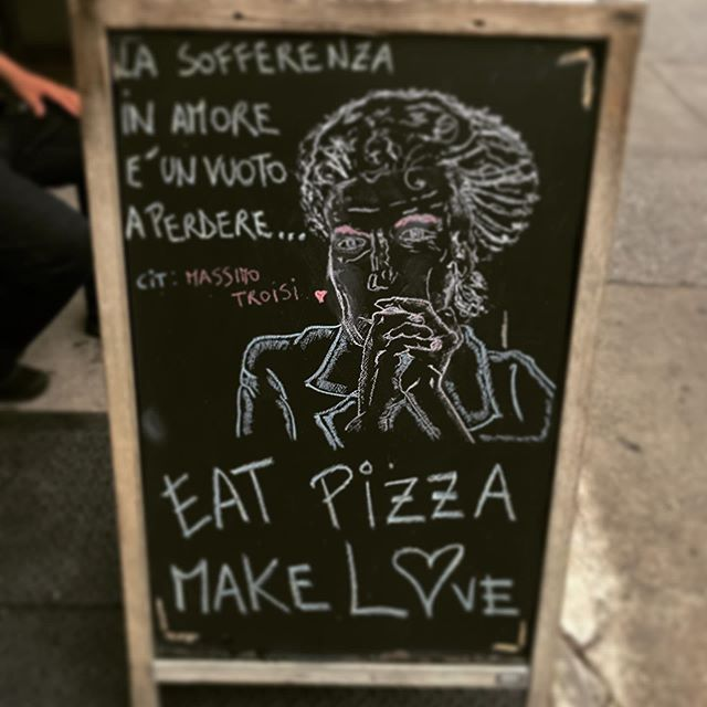 (Italian) Food for thought #goodfood only #goodrelationships only #amore #pizza #luzzosbk