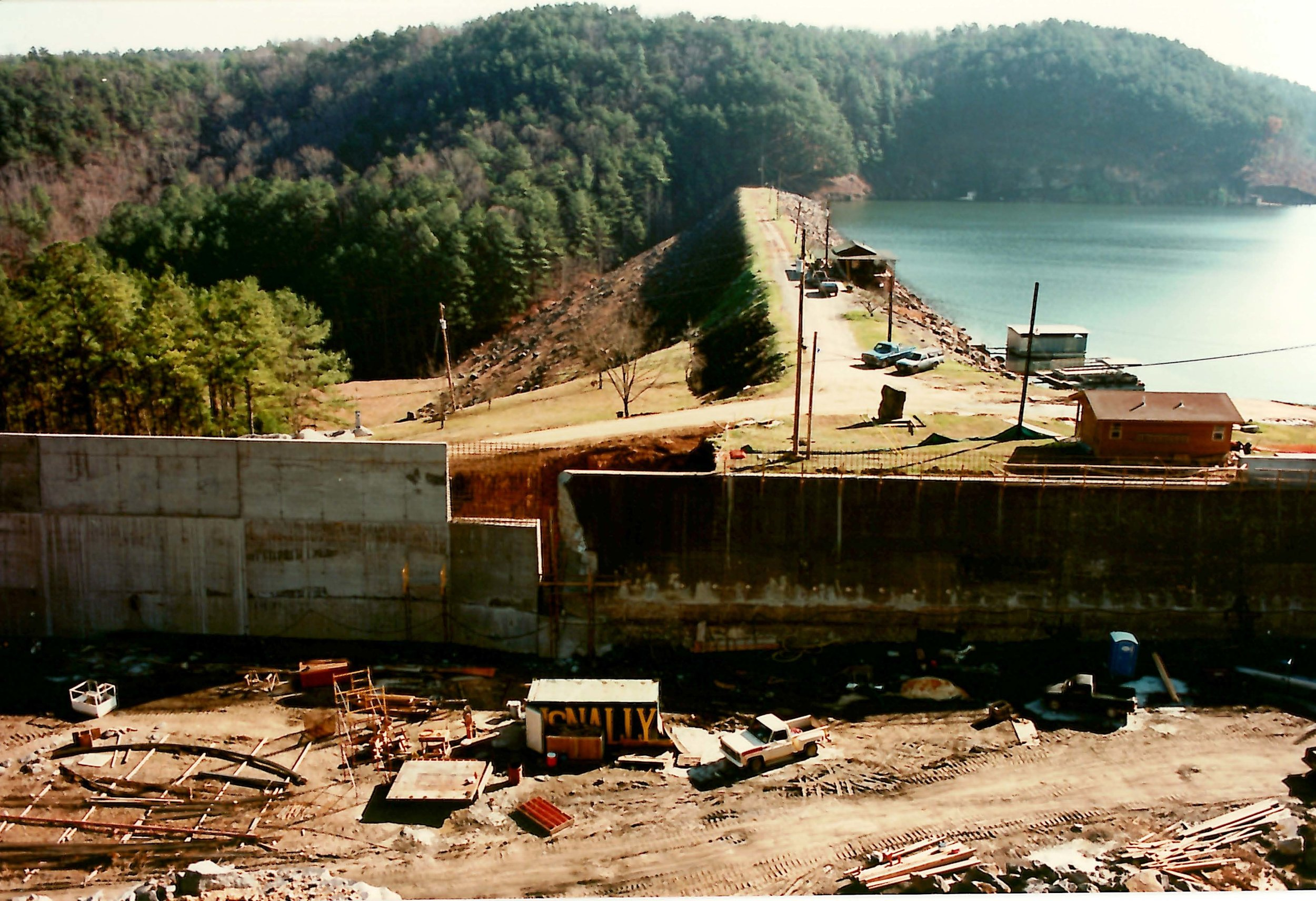 Inland Spillway Wall