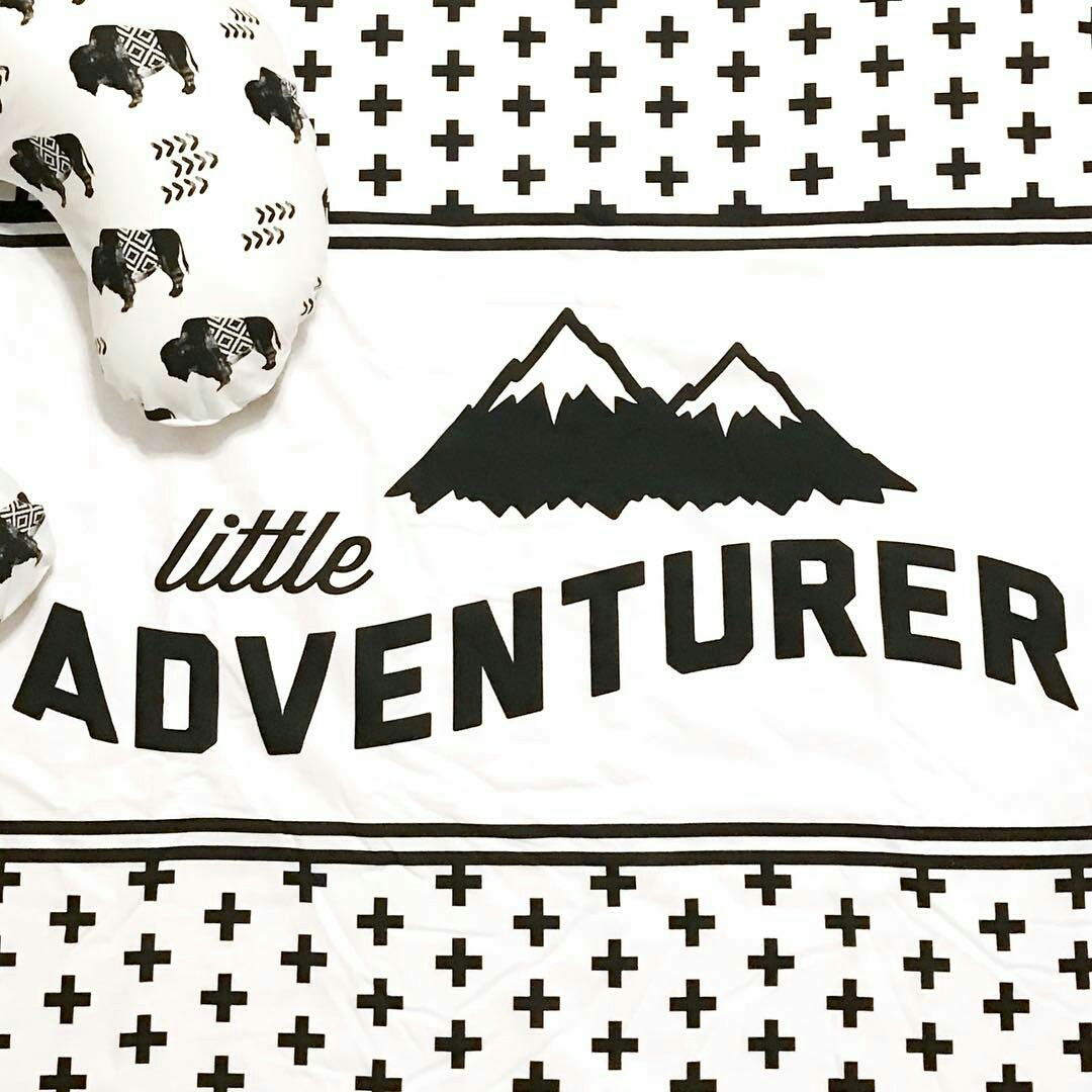 Blanket and Boppy Cover made handmade by  TheModernRobin  using the  Little Adventurer  &  Aztec Buffalo  design.
