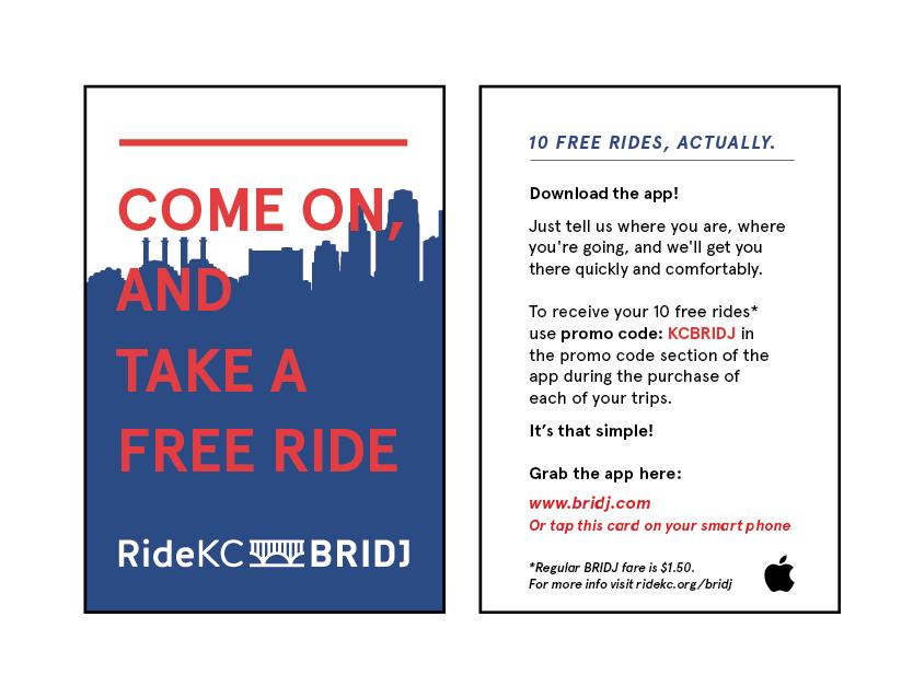 RideKC: Bridj - Ride Cards
