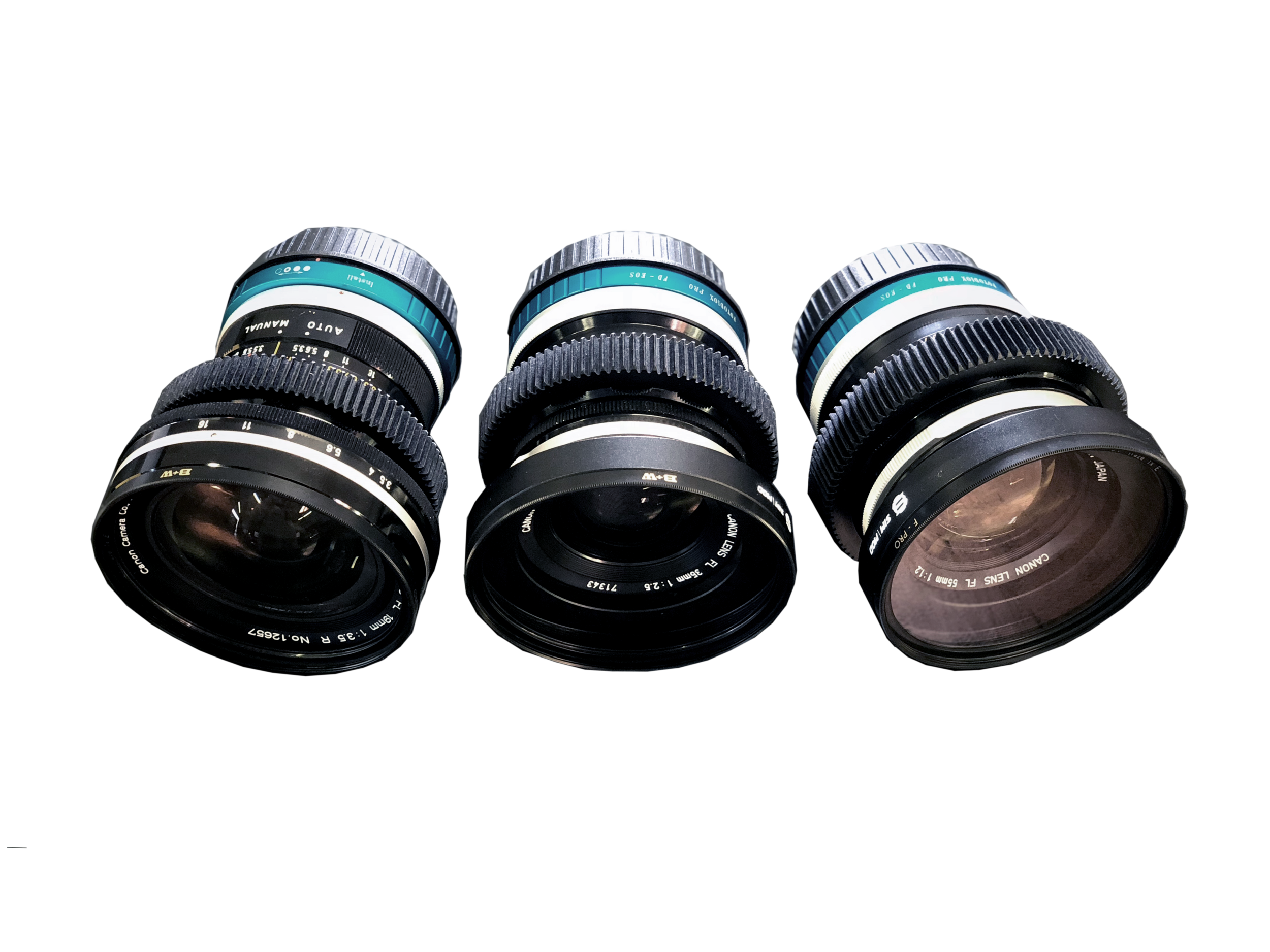 Rent Canon FL Cinevised Prime Lenses Los Angeles