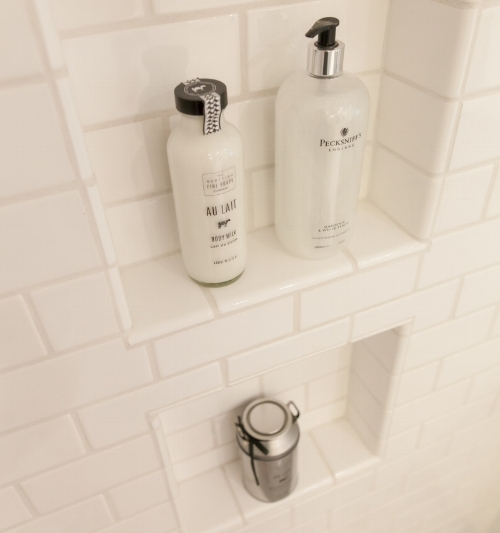 Rescessed Shower Shelf by Dük Liner
