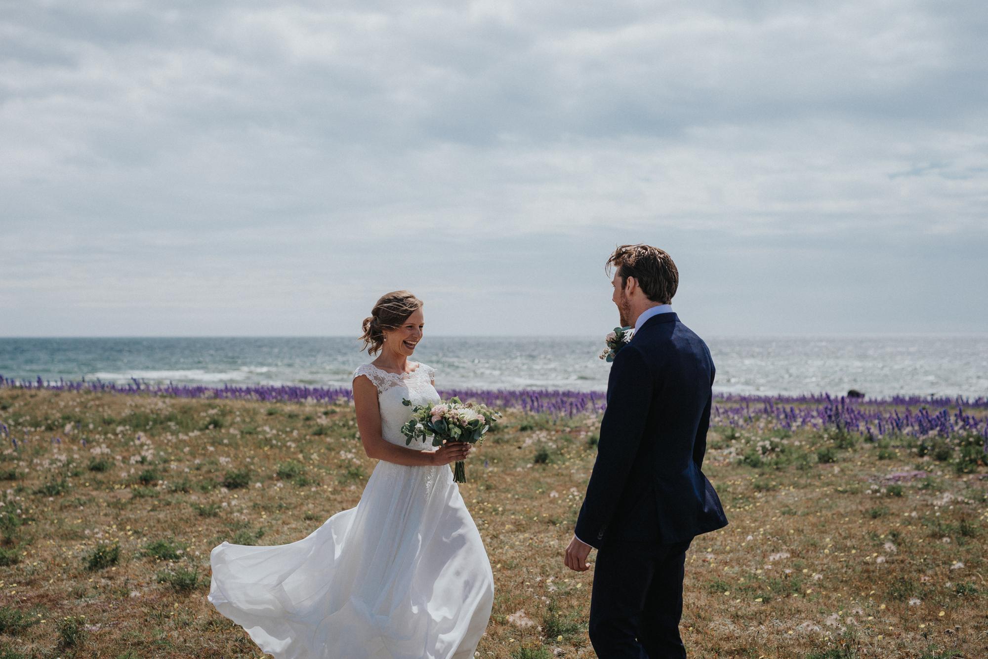 Bröllop plats med täckta st