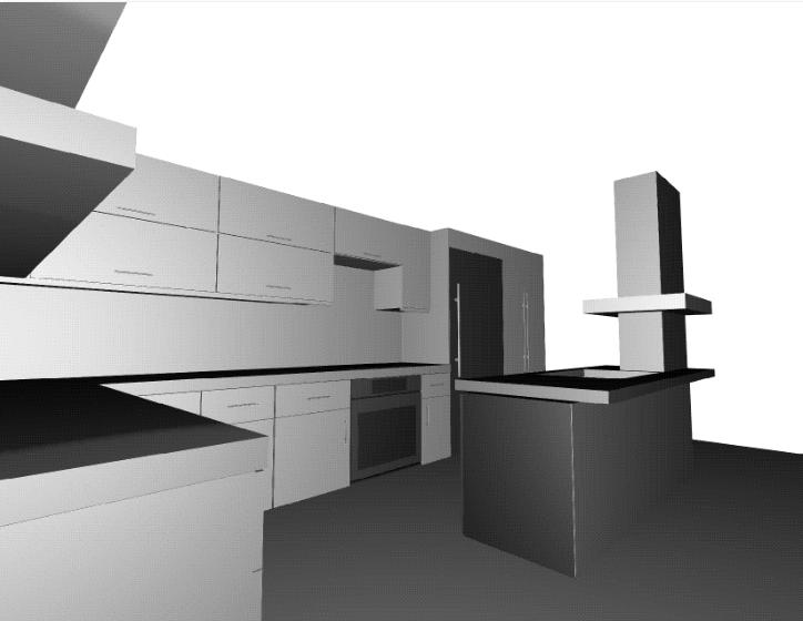 Off-Angle Kitchen Rendering