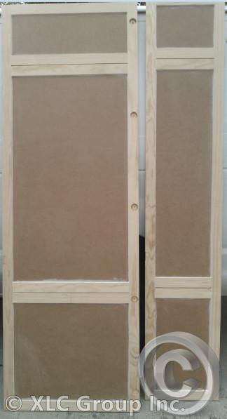 Custom Doors for Refrigerator and Linen Closet