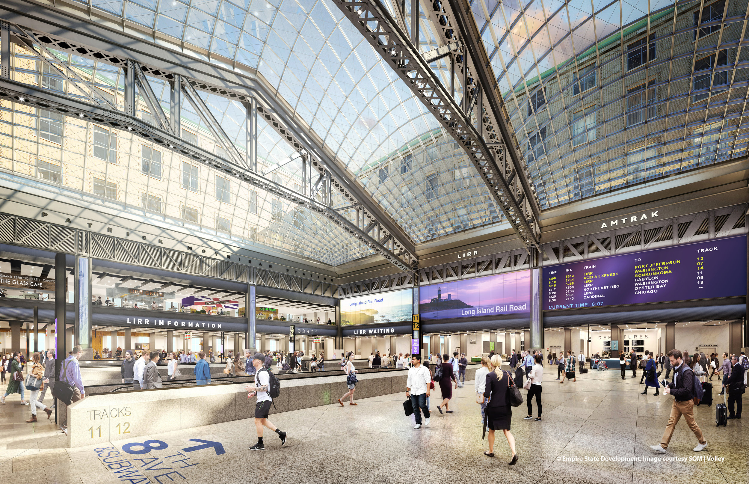 A rendering of the Penn Station overhaul.