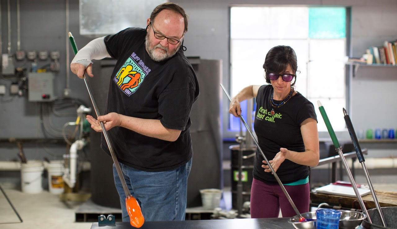 Private Lessons - Private Lessons will focus on introductory shapes intended to highlight the fundamentals of glassblowing.These sessions are geared to the individual interested in process over product.1-2 People - $125/hr
