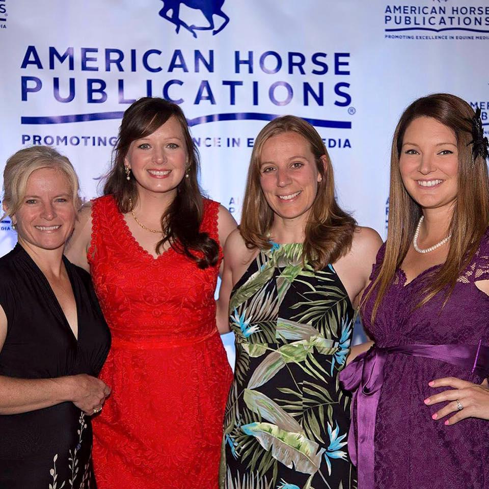 Western Horseman editor Chris Hamilton and freelancers Kate, Katie Navarra and Abigail at the American Horse Publications Seminar. Photo credit: Darrell Dodds