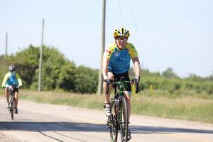 Mike Foley , Twitter   10-year rider, Peloton+ Ambassador  Paramedic, Hastings-Quinte EMS