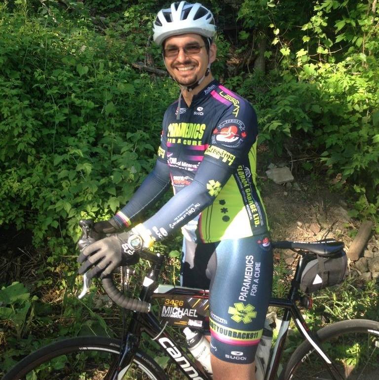 Michael Scarmato , Event Coordinator   3-year rider  Paramedic, Toronto EMS