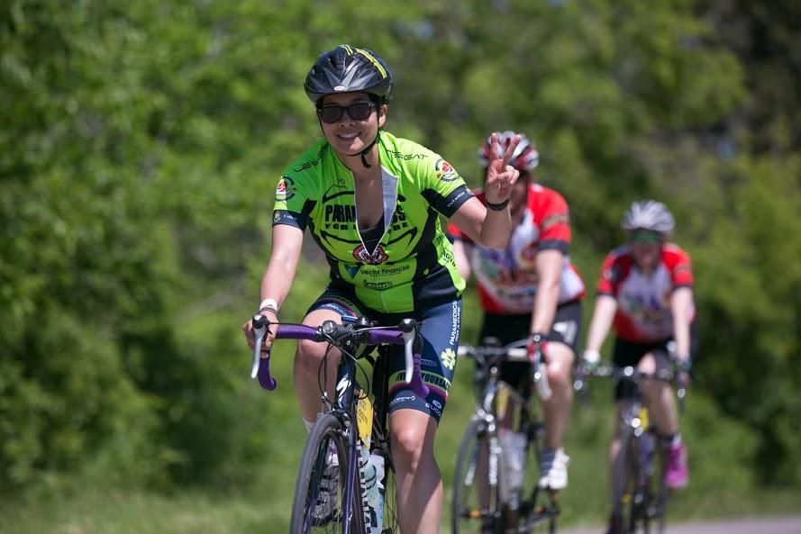 Jocelyn Chan , Facebook / Website   5-year rider, Peloton+ Ambassador  Family & Friends