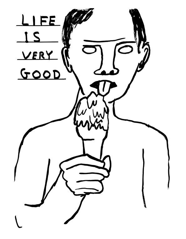 I love David Shrigley's artwork.