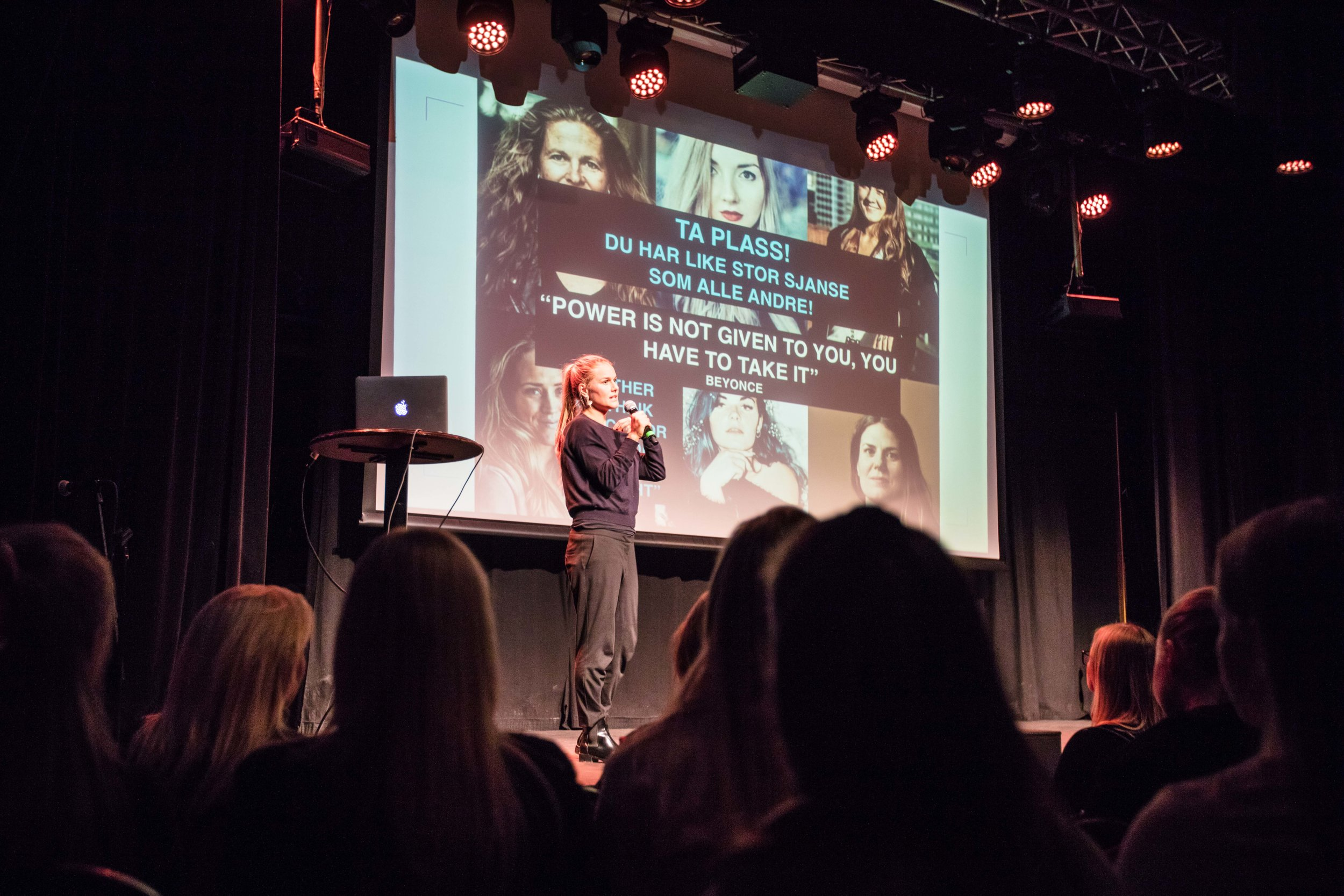 Me and my ladies på INSPIRE BI Konferansen 2019.