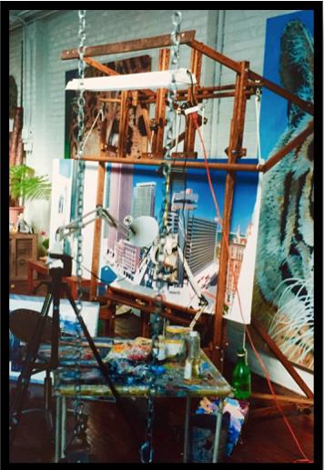 (In progress view at Artworks Studios, 60th Street, Oakland)