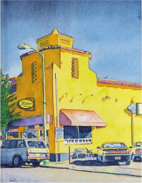 "Title: Fenton's Piedmont Avenue, Oakland 7-2002    Media: Watercolor    Dimensions: 8"" x 11""    Sold"
