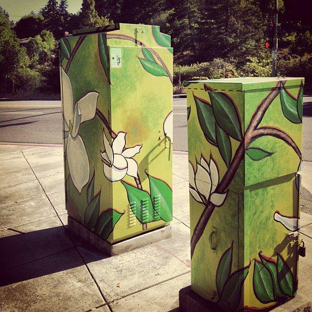 Montclair Utility Boxes (three different sites) Montclair, Oakland Hills-2013
