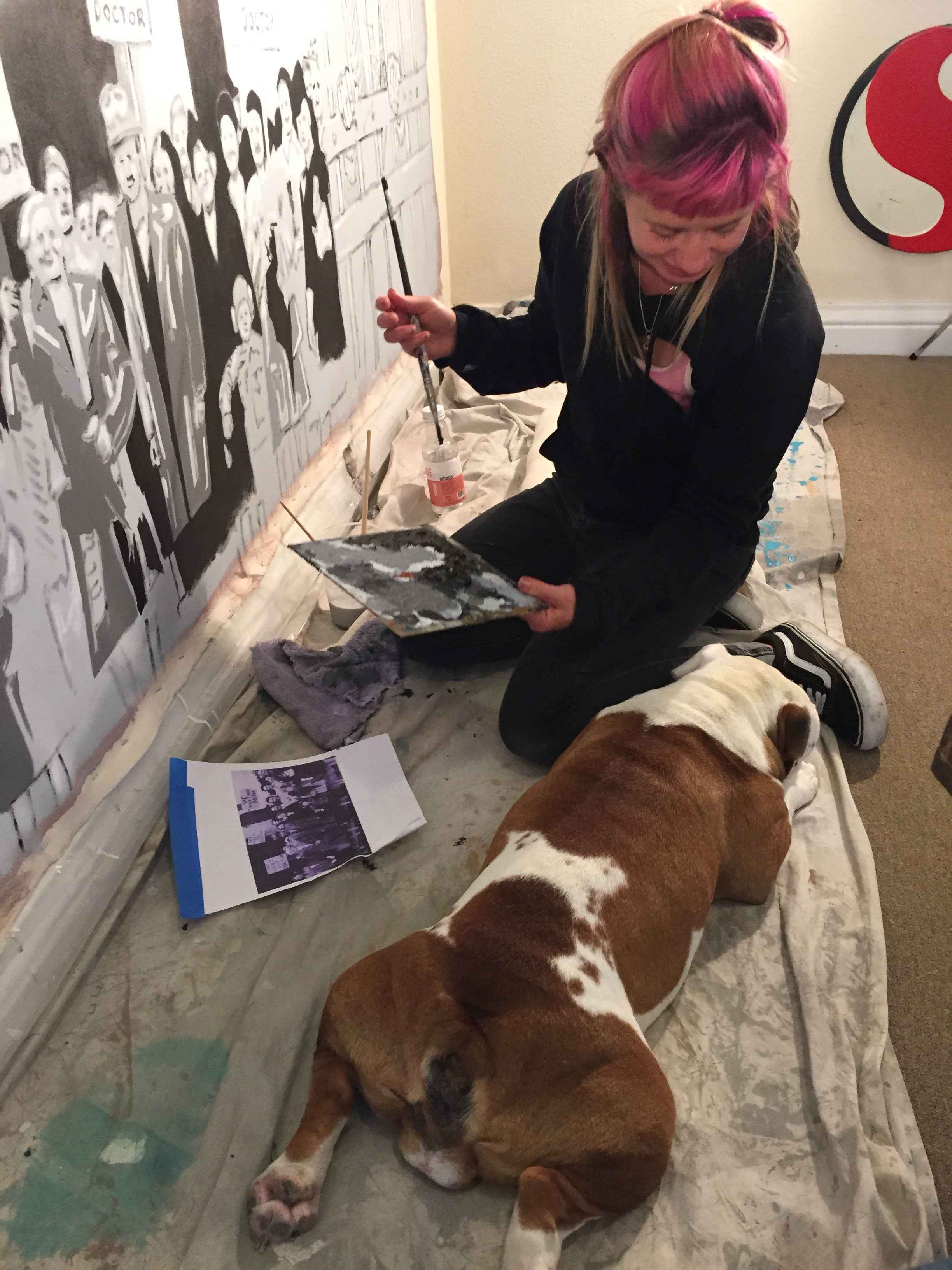In progress view with assistant Nina Wright