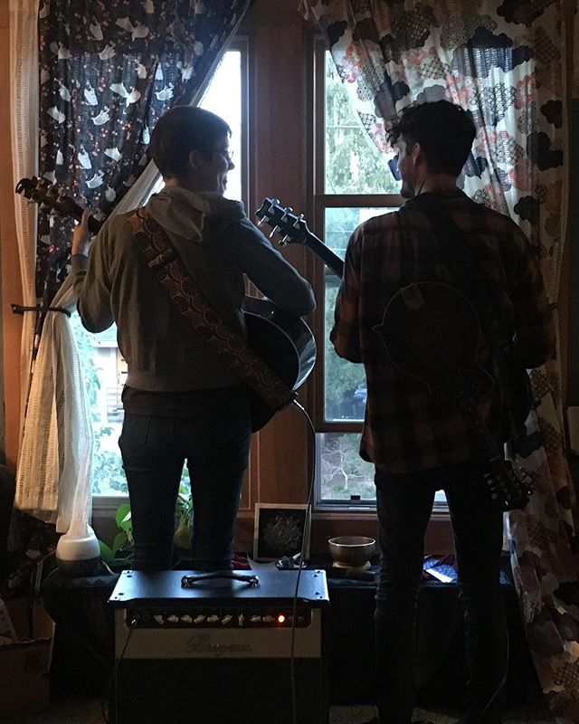 Nicholas and I have been friends for like 12 years and this is the first show we are playing together just the two of us! Tomorrow night at @whiteeaglesaloon with @noahkite and @pacifictrio . . 📸 @solomonopoeia . #whiteeaglesaloon #mcmenamins #newcollaborations #independentmusic #pdxmusic #portlandoregon