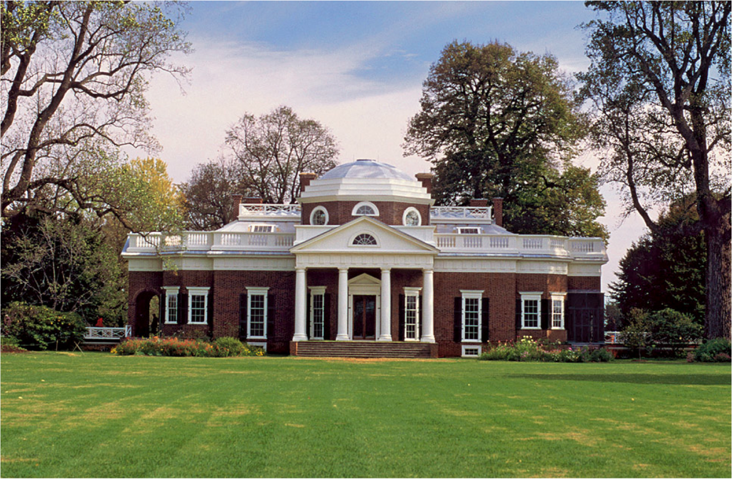 Monticello, the home of Thomas Jefferson, third President of the US